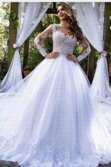 Robe de mariée Cathédrale Naturel taille vogue Poire Longue a ligne