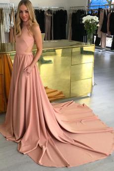 Robe de Bal Longue Luxueux Long Froid aligne Poches
