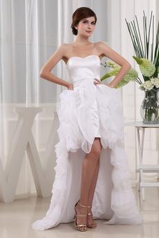 Robe de mariée Dos nu Plage Col en Cœur Manquant Sans Manches