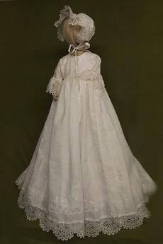 Robe de baptême Princesse Haute Couvert 1/2 Manche Petites Tailles