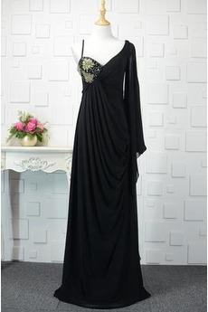 Robe de Soirée Longue Milieu Chiffon Romantique Empire Cristal