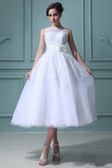 Robe de mariée Gaze De plein air Sans Manches Organza Blanche
