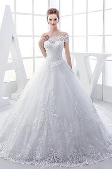 Robe de mariée Longue Formelle Eglise Sablier Mancheron Au Drapée