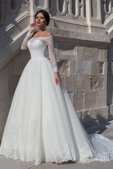 Robe de mariée Dentelle Naturel taille Traîne Mi-longue Moderne