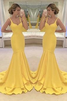 Robe de Soirée Sirène Zip Soie Norme Luxueux Automne