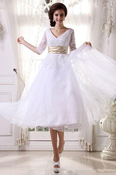 Robe de mariée Tulle Milieu Naturel taille Princesse Manche Aérienne