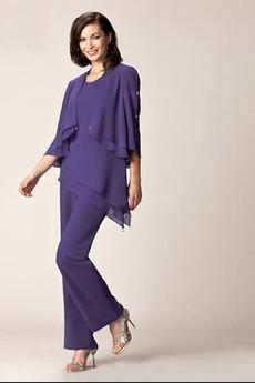 Robe de mère pantalon de costume Longueur Cheville Ouverture Latérale