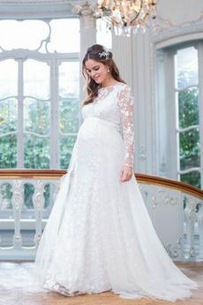 Robe de mariée Empire Tulle Maternité Elégant Empire Automne