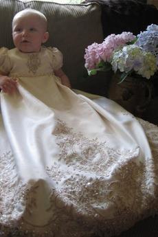 Robe de baptême Haute Couvert Manche Courte Princesse Automne