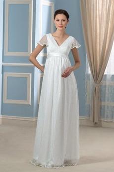 Robe de mariée Grossesse Chic Été Au Drapée Empire De plein air
