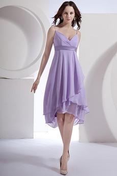 Robe Demoiselle d'Honneur semi-halter Elégant taille haut Plage