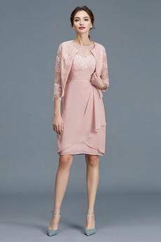 Robe Mère de Mariée Norme Zip Appliquer Mi-longues Luxueux A-ligne