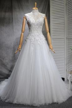 Robe de mariée De plein air A-ligne Cérémonial Printemps Longue