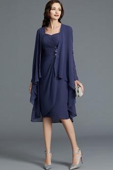 Robe Mère de Mariée Tissu Dentelle Printemps Glissière Glamour