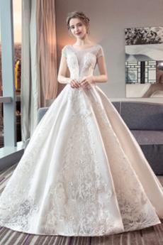Robe de mariée Mancheron Formelle A-ligne Couvert de Dentelle