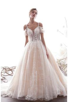 Robe de mariée Tulle Salle Manquant Lacet Éternel Printemps
