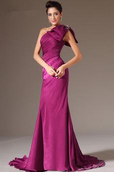 Robe de Soirée Chiffon Luxueux Manquant Naturel taille Perle Sirène