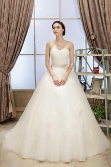 Robe de mariée Manquant Bustier Orné de Nœud à Boucle Lacet Formelle