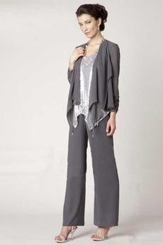 Robe de mère pantalon de costume Naturel taille 3/4 Manche 2 Pièces