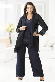 Robe de mère pantalon de costume Luxueux Manche de T-shirt Naturel taille