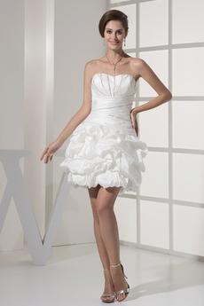 Robe de mariée Sans bretelles Dos nu Taille chute Perle mini Été