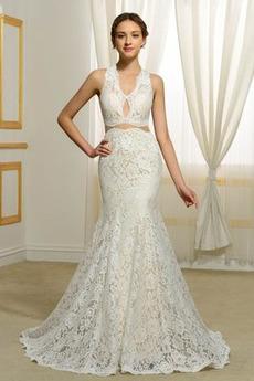 Robe de mariée Norme Luxueux Maigre De plein air Dentelle Printemps c64c01a7a91