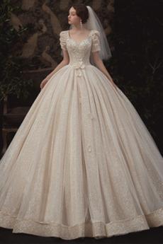 Robe de mariée Tulle Au Drapée À la masse Cérémonial Naturel taille