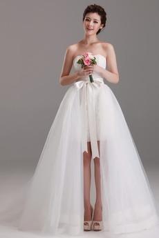 Robe de mariée Naturel taille Au Drapée Printemps Traîne Panneau