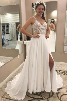 Robe de mariée Sommaire Lacet Ouverture Frontale Fourchure Frontale