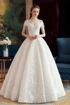 Robe de mariée Tulle Naturel taille A-ligne Lacez vers le haut Salle