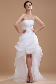 Robe de mariée Plage Avec Jacket Manquant Sans bretelles Pailleté