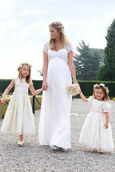 Robe de mariée Haute Couvert Tissu Dentelle Jardin Empire Maternité