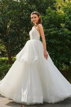 Robe de mariée Couvert de Dentelle a ligne Au Drapée Tissu Dentelle