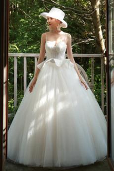 Robe de mariée Tulle Sans Manches A-ligne Lacez vers le haut À la masse