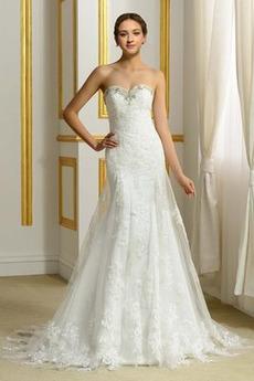 Robe de mariée Automne Petites Tailles Elégant Sans Manches A-ligne