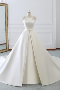 Robe de mariée aligne Lacet Triangle Inversé Salle Longueur au sol