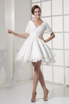 Robe de mariée Princesse Médium Plage Printemps 1/2 Manche Manche de T-shirt