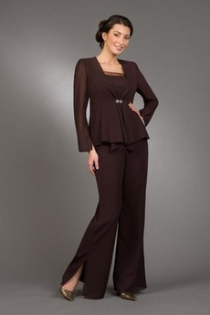 Robe de mère pantalon de costume Hiver Chiffon Simple Triangle Inversé