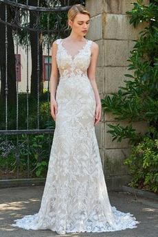 Robe de mariée Gazer Elégant Naturel taille De plein air Petites Tailles