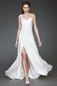 Robe de Soirée Glamour Chiffon Fourreau Automne Sans Manches Perle