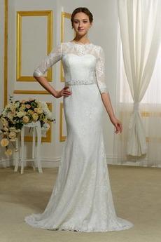 Robe de mariée Fourreau De plein air Gaze Naturel taille Romantique