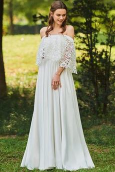 Robe de mariée Sommaire Couvert de Dentelle Manquant A-ligne Printemps
