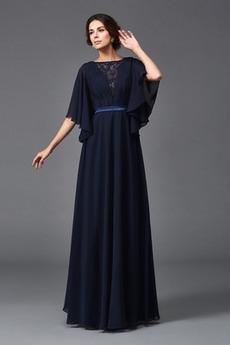 Robe Mère de Mariée Chiffon A-ligne Longueur au sol Triangle Inversé