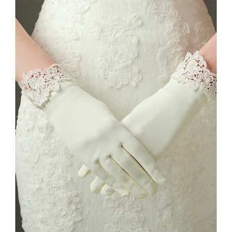 Gants de mariage Decoration Ivory Appropriate Satin Dentelle Short - Page 1