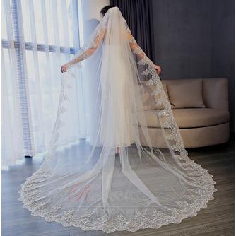 3M queue longue tulle dentelle bord voile accessoires de mariage - Page 2