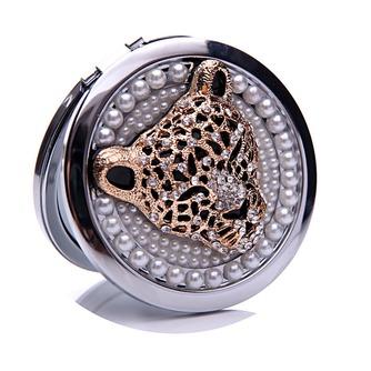 Diamant incrusté de cercle anniversaire mariage métal pliant petit miroir & peigne - Page 1