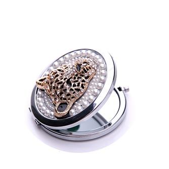 Diamant incrusté de cercle anniversaire mariage métal pliant petit miroir & peigne - Page 3
