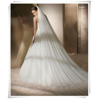 Voile de mariée Formelle Printemps Traîne Mi-longue Multi Couche - Page 2