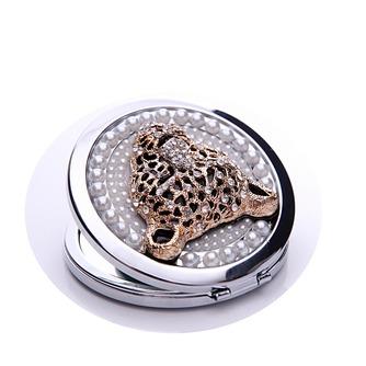 Diamant incrusté de cercle anniversaire mariage métal pliant petit miroir & peigne - Page 4