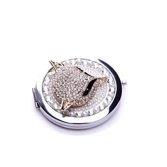 Catégorie supérieure double face le charme pliantes Inlaid diamond Business petit miroir & peigne - Page 3
